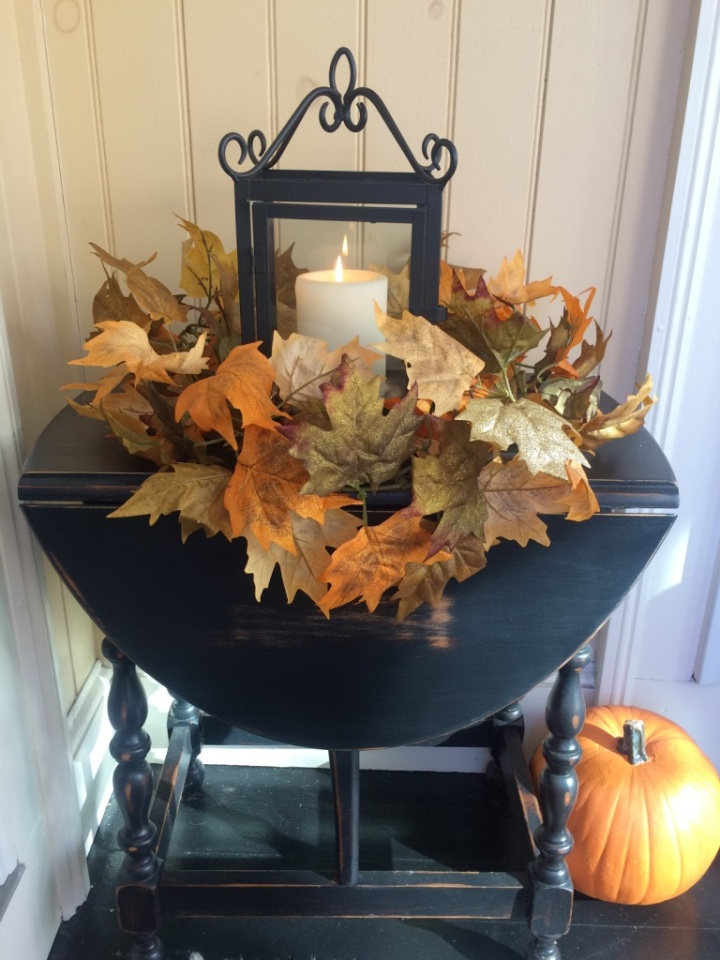 fall porch table